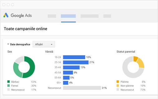 analiza targetare campanii google ads reteaua cautare google remarketing reteaua display agentie publicitate oradea 21vision
