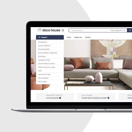 creare magazin online scaune canapele deco house 21vision programare web oradea