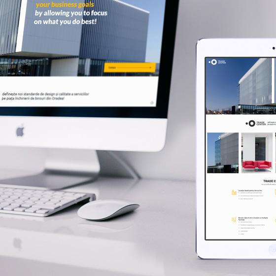 creare site prezentare trade center oradea agentie publicitate 21vision