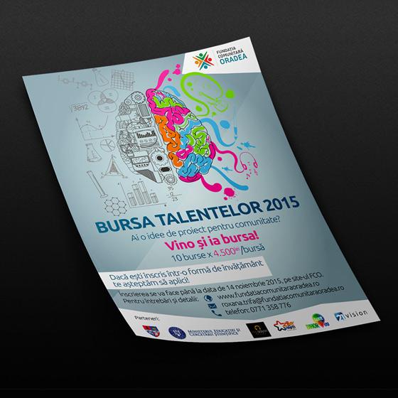 design bursa talentelor fundatia comunitara oradea agentie publicitate 21vision oradea