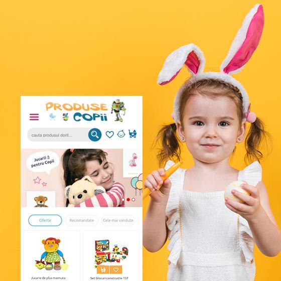 design web jucarii copii magazin online produse copii agentie publicitate 21vision oradea
