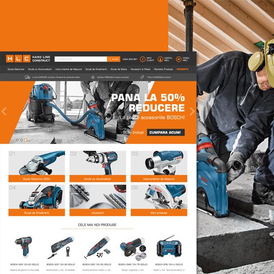 design web magazin online hlc programare web hard line construct 21vision