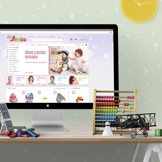 design web magazin online jucarii copii mini junior agentie publicitate 21vision oradea