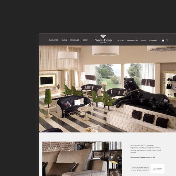 design web magazin online mobila new home concept agentie publicitate 21vision oradea
