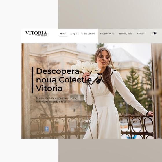 design web magazin online rochii creare site fashion vitoria agentie publicitate 21vision oradea
