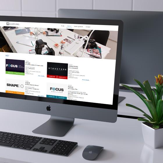 design web platforma online cursuri stomatologie lazar learning