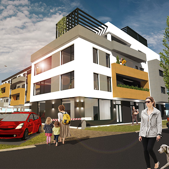 design web site prezentare dezvoltator imobiliar oradea eas residence agentie publicitate 21vision