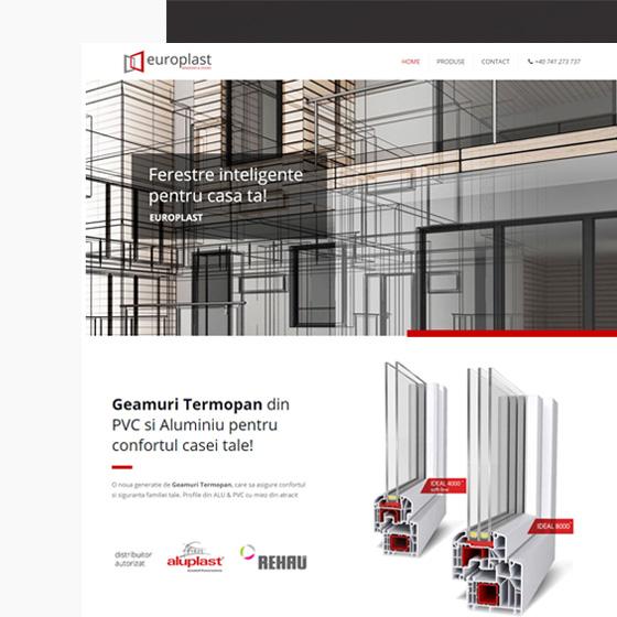 design web site prezentare europlast geamuri termopan ferestre termopan oradea 21vision agentie publicitate oradea