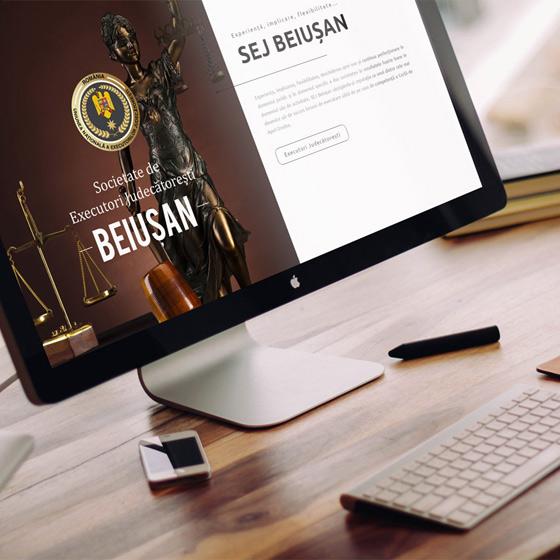 design web site prezentare executor judecatoresc oradea agentie publicitate 21vision
