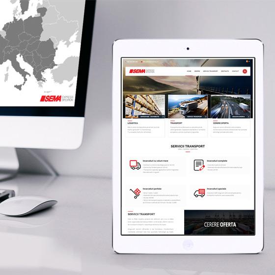 design web site prezentare sema express furnizor servicii transport marfa agentie publicitate 21vision