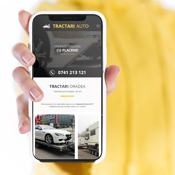 design web site prezentare tractari oradea tractari auto 21vision agentie publicitate