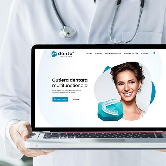 design web magazin online articole medicale gutiera dentara programare web 21vision