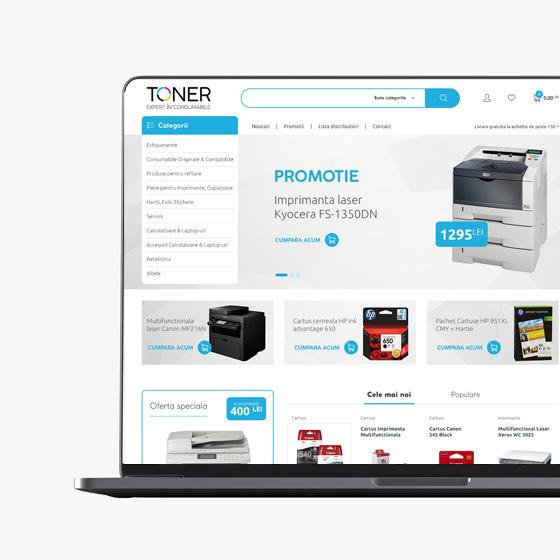 design web magazin online imprimante toner oradea 21vision agentie publicitate