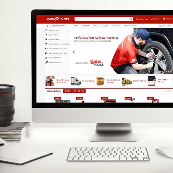 design web magazin online scule electrice pneumatice hidraulice pompe agentie publicitate 21vision oradea