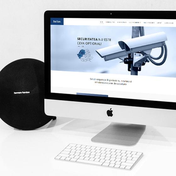 design web site prezentare helion servicii securitate 21vision programare web oradea