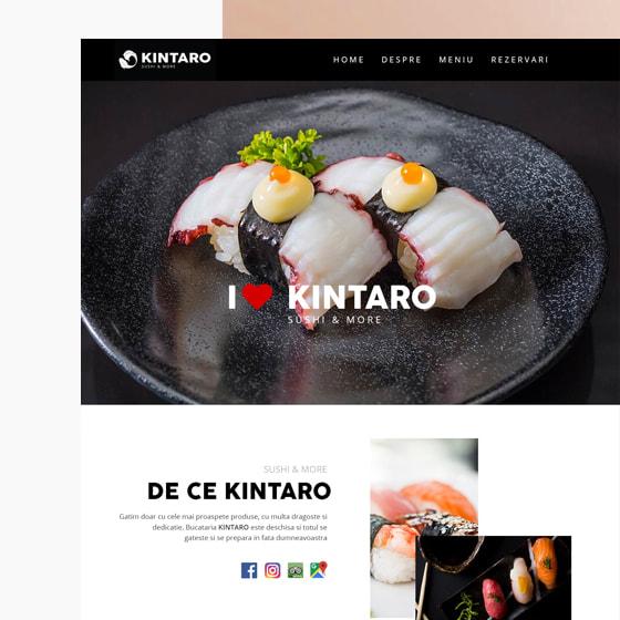 programare web design web site prezentare kintaro sushi oradea 21vision agentie publicitate