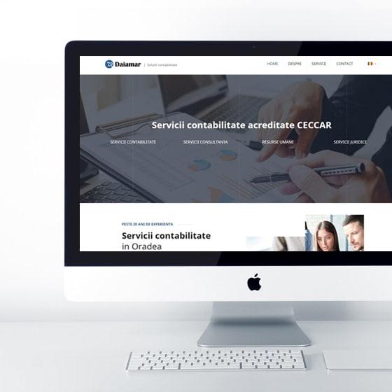 daiamar servicii contabilitate oradea infiintare firme 21vision creare site web
