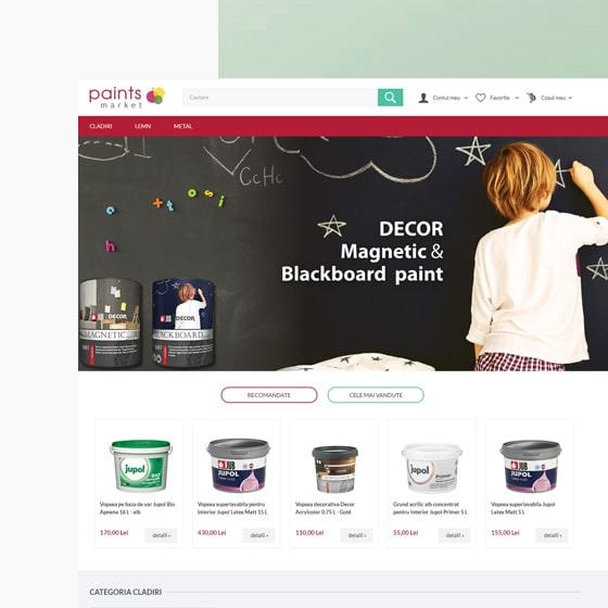 design web magazin online paintsmarket 21vision programare web oradea