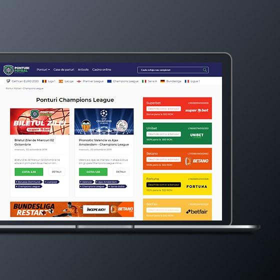 programare web site afiliere casa pariuri ponturi fotbal