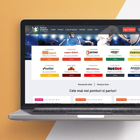programare web site afiliere ponturi pariuri fotbal casino sport design web oradea