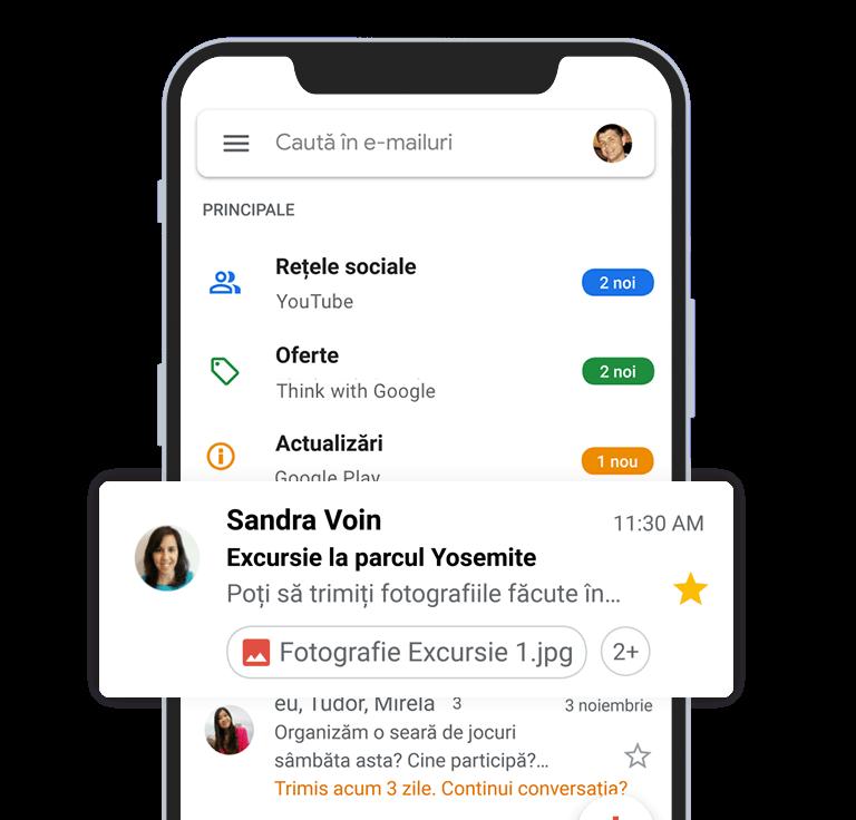 creare adresa email personalizata gmail domeniu 21vision programare web oradea