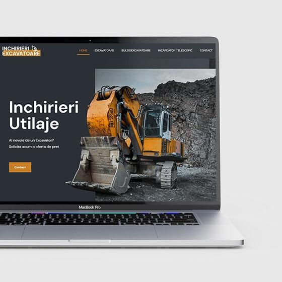 design web site prezentare inchirieri excavatoare oradea 21vision programare web